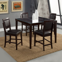 Alpine Midtown Glass Counter Height Table