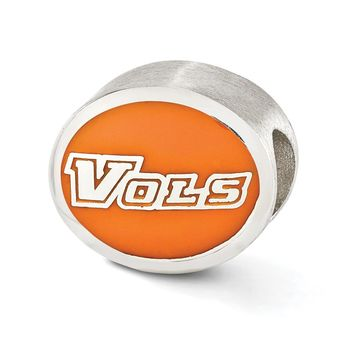 Sterling Silver & Enamel University of Tennessee Collegiate Bead Charm