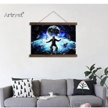 HD Space Picture Scroll Painting
