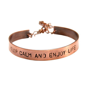 Personalized bracelet - copper bracelet, your dedication, friendship, for gift