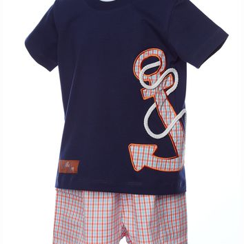 Millie Jay Ahoy Matey Applique Boys T-shirt & Shorts