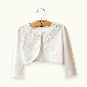 RL Baby Girl Jackets Cotton White Baby Cardigan Sweater Outwear 2017 Baby Girls Clothes For 12 to 24 Month