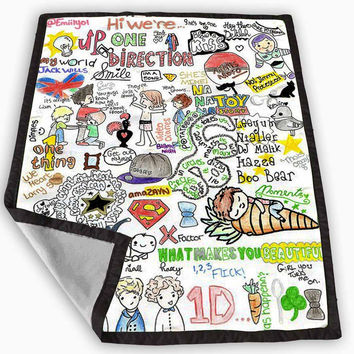 one direction love art Blanket for Kids Blanket, Fleece Blanket Cute and Awesome Blanket for your bedding, Blanket fleece *