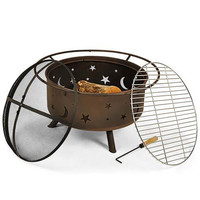 Cosmic Fire Pit with Cooking Grill