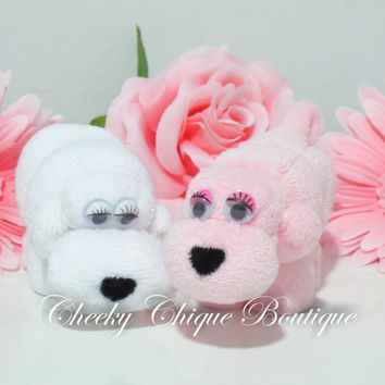 Washcloth Animal Puppy - Baby Shower Favors, Diaper cake, Puppy Baby Shower, Washcloth Animals, Washcloth Lollipop, Baby Washcloth