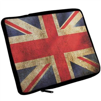 DCCKU3R British Flag Union Jack Grunge Artist's Journal Travel Bag