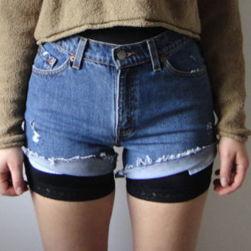 vintage cut off Levi 517 jean shorts by RaggedandWrecked on Etsy