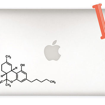 Weed Sticker - Weed Decal - THC Molecule Decal Sticker - Marijuana molecule - Weed Chemical Molecule - DIY - laptop decal sticker, car decal