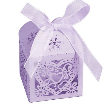 Love Heart Party Wedding Hollow Candy Boxes