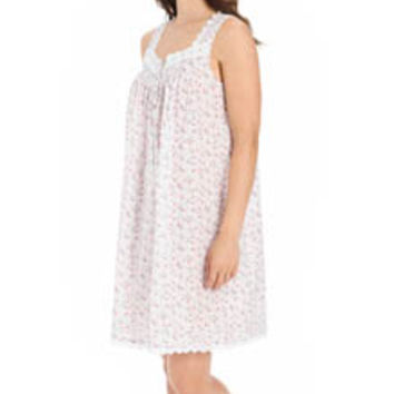 Eileen West 5315830 Rosebud Short Sleeveless Nightgown