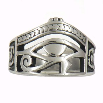 Fanssteel Stainless Steel Jewelry CRAB EGYPTIAN PHARAOH EYES RING  FSR13W90