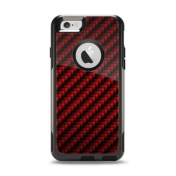 The Glossy Red Carbon Fiber Apple iPhone 6 Otterbox Commuter Case Skin Set