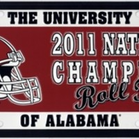Alabama 2011 National Champions License Plate | Roll Tide License Plates | Alabama Crimson Tide License Plates