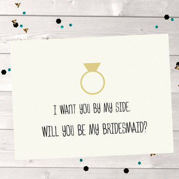 Will you be my bridesmaid card, brides maid card, maid of honor card, engagement card, love card, blank greeting card, best friend, wedding