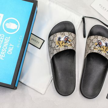 Gucci Slide Sandal With Blue Box Style #4 - Best Online Sale