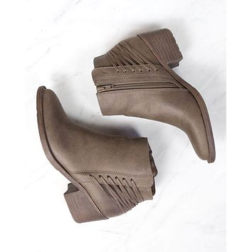 volatile - merrick lace back bootie - more colors