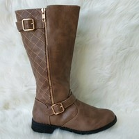 Women's Taupe Mid-Calf Boot
