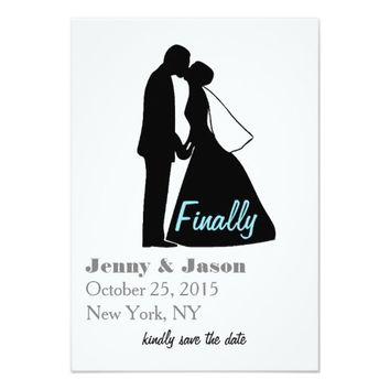 Minimalist Wedding Save the Date Invite