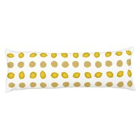Lemon Print Body Pillow