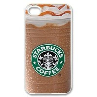 Starbucks Coffee Seatle Latte Iphone 4 4s Case Cover Show S001, Plastic Shell Hard Case Cover Protector Gift Idea