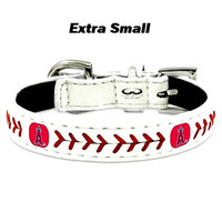 Anaheim Angels Classic Leather Toy Baseball Collar