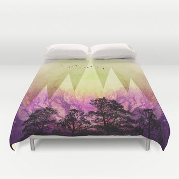 TREES under MAGIC MOUNTAINS III Duvet Cover by Pia Schneider [atelier COLOUR-VISION]