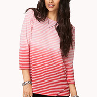 Ombré Striped Top | FOREVER 21 - 2002246463