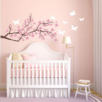 Cherry Blossom Wall Decal - Etsy Wall Decals - Nursery Wall Decals - Baby Girl Nursery - Girl Nursery - Tree Wall Decal - Wall Decals