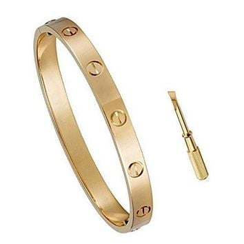 Cartier Bracelet  Yves saint Laurent Women Fashion Hollow Out Bracelet Jewelry Gold