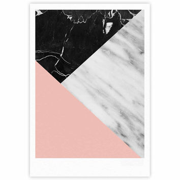 "Cafelab ""Marble Collage With Pale Pink ""  Gray Pink Fine Art Gallery Print"