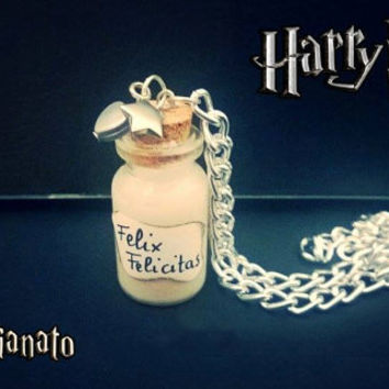 Harry Potter felix felicis Potion or liquid luck necklaces handmade saga