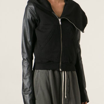 RICK OWENS DRKSHDW leather sleeve bomber jacket