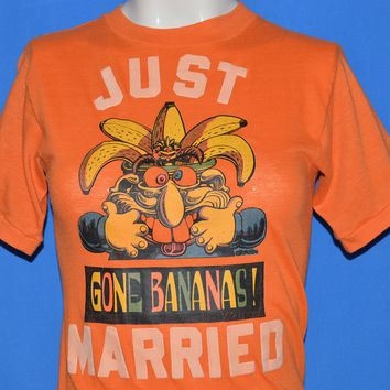80s Just Married Gone Bananas Iron On t-shirt Small
