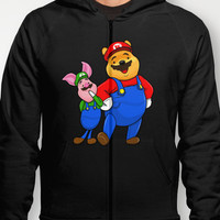 Winnie Pooh Mario and Piglet Luigi Hoody by Olechka | Society6