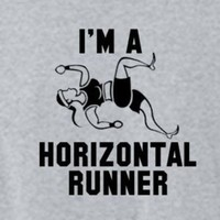 Funny Shirt Pitch Perfect Fat Amy I'm a Horizontal Runner - Womens Mens T Shirt