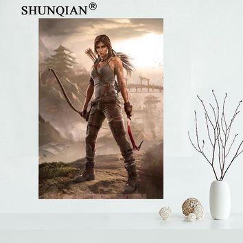 Removable Mural Home Decor 20x30 inches  Poster Top Selling Tomb Raider Lara Croft Game Poster