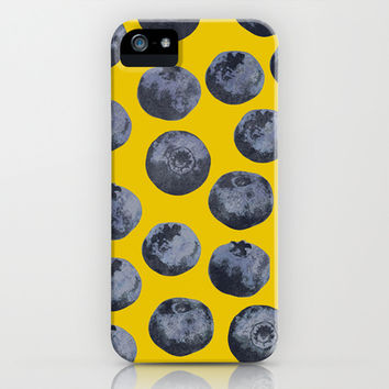 Blueberry pattern iPhone & iPod Case by Georgiana Paraschiv