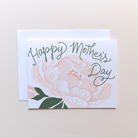Mother's Day Peony Card