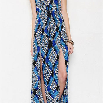 Aegean Islands Printed Maxi Dress - FINAL SALE
