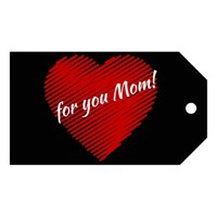 Mother's day special- my heart is for you Mom Gift Tags