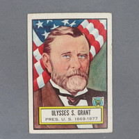1952 TOPPS Look 'n See Trading Card, Ulysses S. Grant, Card Number 7,  Historical Trading Cards