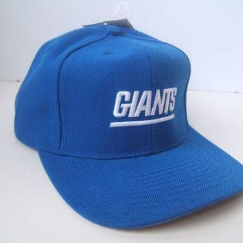 DCCK2JE NY Giants Spell Out New York NFL Hat Vintage Blue Snapback Baseball Cap w/ Tag