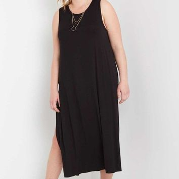 Side Slit Maxi Dress Plus Size