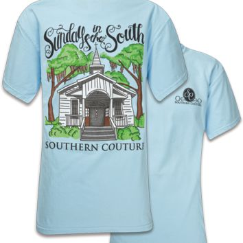 Southern Couture Sundays in the South Faith Comfort Colors T-Shirt
