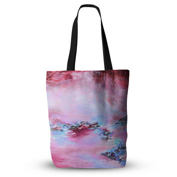 "Ebi Emporium ""Sea To Sky 3"" Pink Abstract Everything Tote Bag"
