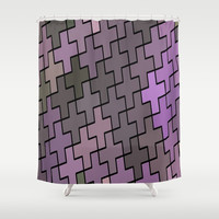 Abstract Crosses Shower Curtain by kasseggs