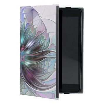 Colorful Fantasy, abstract and modern Fractal Art Case For iPad Mini