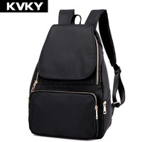 KVKY Fashion Women nylon Backpack Waterproof Women Bag Preppy Style Backpack Girls School Bags Zipper Shoulder Women's Back Pack