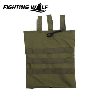 Durable Airsoft Army Paintball Molle Magazine Dump Drop Pouch Lightweight Portable Rifle Pistol Magazine Pouch with Molle Belt