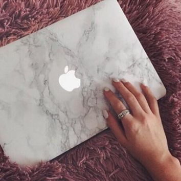 Marble Case Best Protection Tech Rubberized Hard Shell Matte Nanometer Cover for MacBook Air 11.6 , Air 13.3 , Pro 13.3 , Pro 15